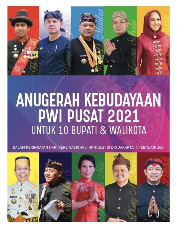 Strategi 10 Bupati Walikota Penerima Anugerah Kebudayaan PWI