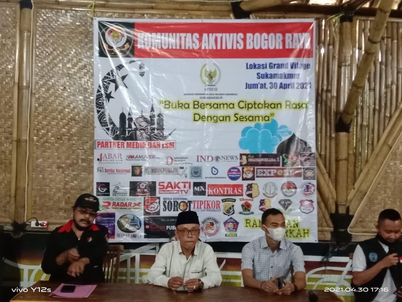 Gelar Buka Puasa Bersama Komunitas Aktivis Bogor Raya dan Apdesi Kecamatan Sukamakmur