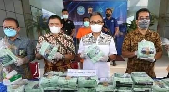 BNN Aceh Ungkap 2 Karung (30 bungkus Sabu-Sabu), dengan Berat 31,4 Kg