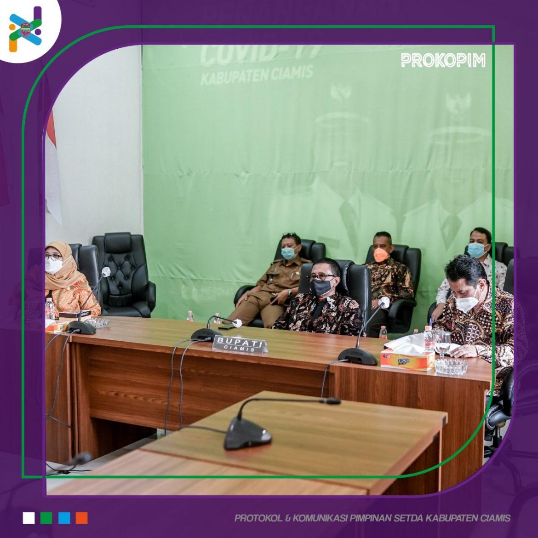 Bupati Ciamis Ikuti Rakor Bersama Presiden RI Terkait Penanganan Pandemi Covid-19