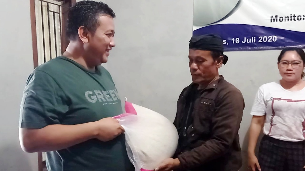 Aksi Peduli: IPJI Ciamis Disaat Pandemi Covid, Kembali Salurkan Bantuan Selain Kepada Warga Tidak Mampu Juga Kepada Anggota