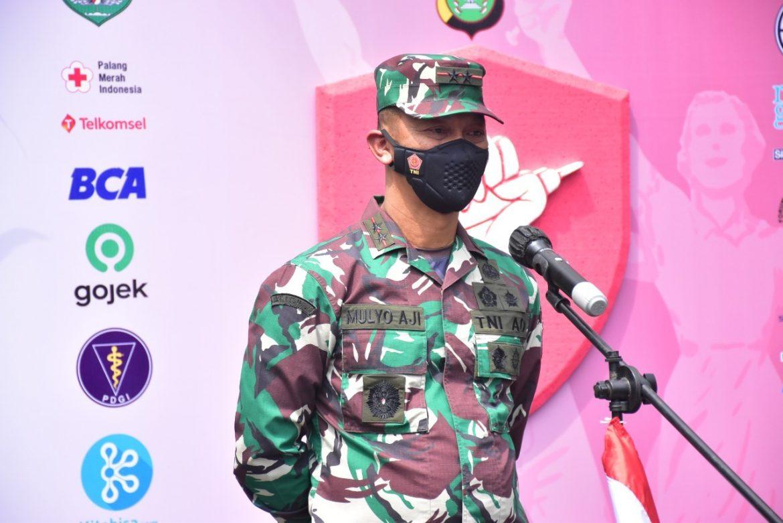 Pangdam Jaya Menghadiri Launching Gerakan Vaksinasi Merdeka