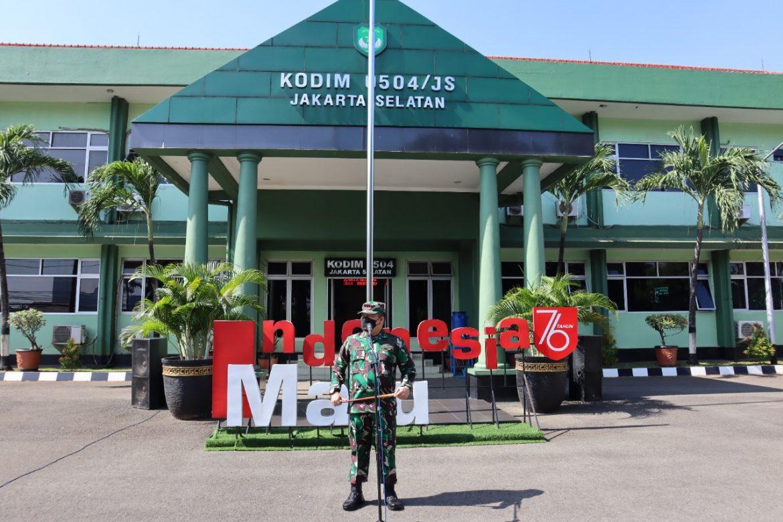 Kodim 0504/Jakarta Selatan Apel Gelar Pasukan Penanggulangan Bencana Alam