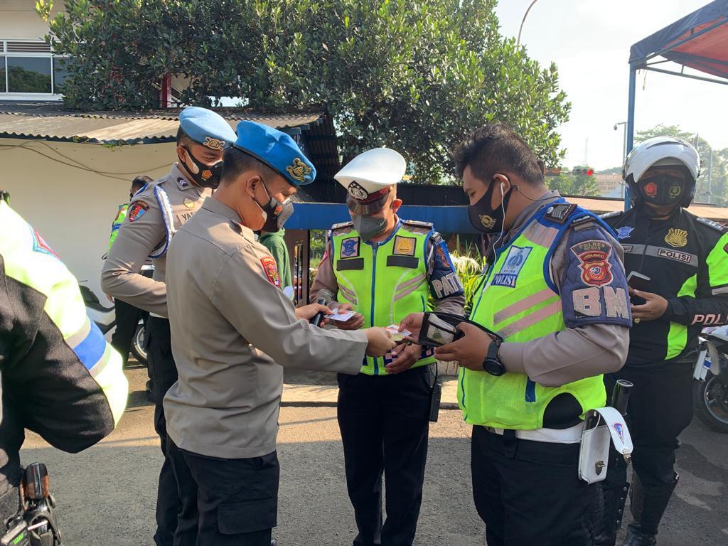 Propam Polres Bogor Gelar Gaktiplin Terhadap Personil yang Laksanakan Operasi Patuh
