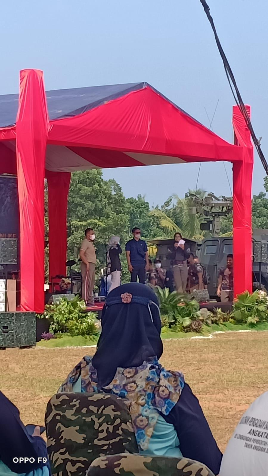 Sambut Hut TNI Ke 76 Polsek Sajira Olahraga Bersama dengan Batalyon Mandala Yuda