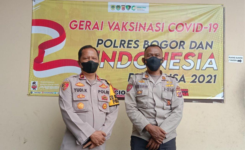 Polsek Ciomas Polres Bogor, Terus Laksnakan Vaksinasi Covid-19 Bersama Indonesia Bisa di Mapolsek Ciomas