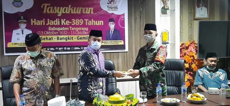 Sertu Maskur Wakili Danramil Hadir di Tasyakuran HUT Ke-389 Kabupaten Tangerang