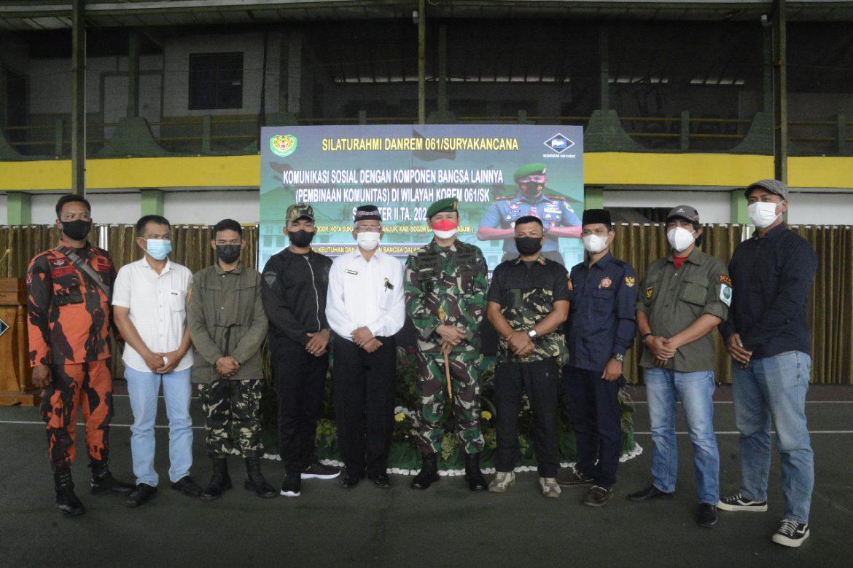 Danrem 061/ Sk Ajak Ormas dan LSM Tumbuhkan Kesadaran Bela Negara Upaya Cegah Perselisihan Antar Kelompok