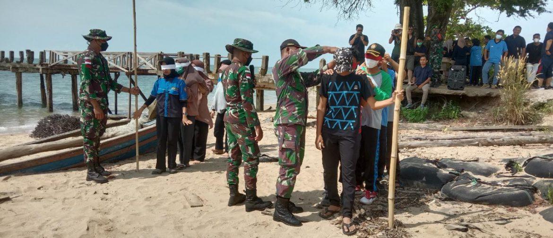 Latih Kerjasama Dan kekompakan, Satgas Pamtas Yonif Mekanis 643/Wns Gelar Outbound Kepada Pemuda-Pemudi Di Perbatasan