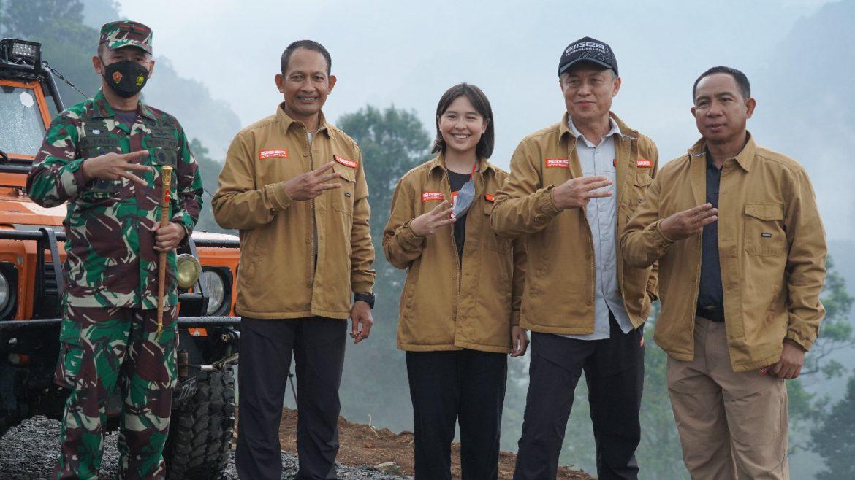 Danrem 061/Sk Dampingi Pangdam III/Slw Peletakan Batu Pertama Pembangunan Jembatan Gantung Terpanjang di Dunia PT. Eiger Adventure Land