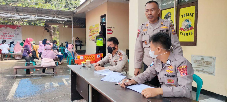 Bersama Indonesia Bisa, Polsek Ciomas Polres Bogor Capaian Luar Biasa Vaksinasi Covid-19 Tembus 15.000 Dosis Vaksin